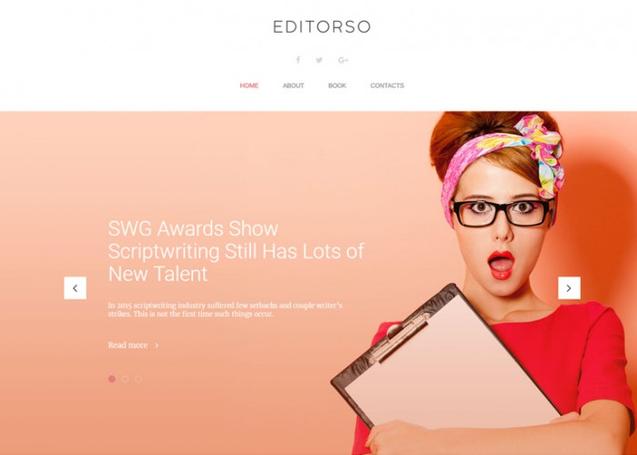 Editorso – Premium Responsive Journalist Blog WordPress Theme