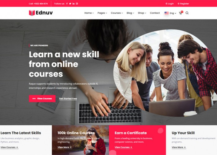 Ednuv – Premium Responsive Angular 9 Education HTML5 Template