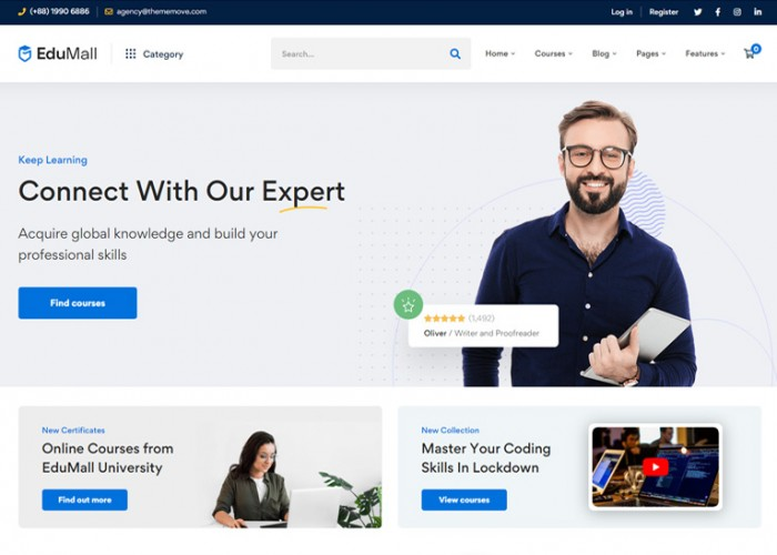 EduMall – Premium Responsive LMS Education Center WordPress Theme