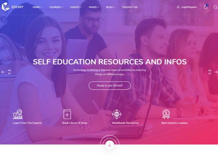 Edumy – Premium Responsive LMS Education Course WordPress Theme