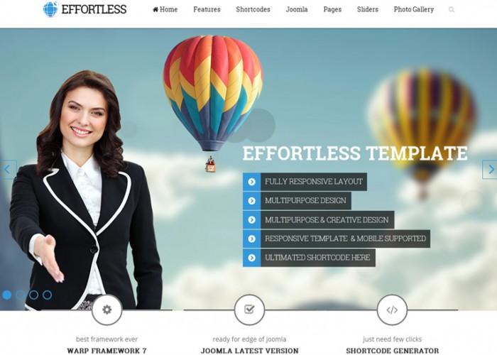 Effortless – Premium Responsive Multipurpose Joomla Template