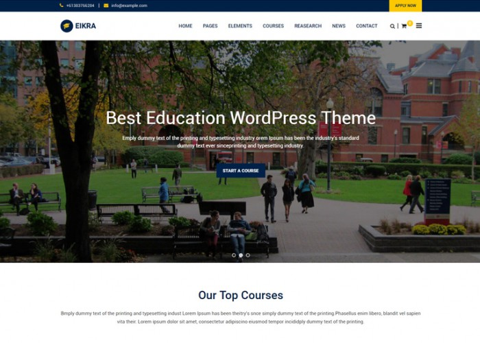 Eikra – Premium Responsive Education WordPress Theme