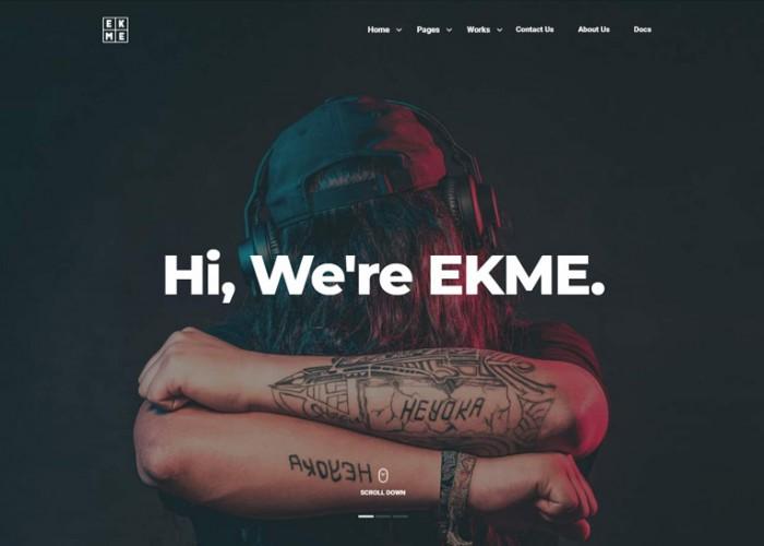 Ekme – Premium Responsive One Page Landing Page WordPress Theme