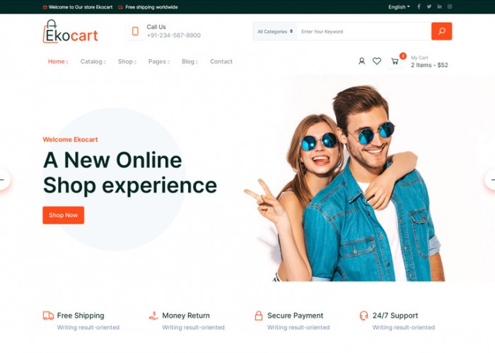 Ekocart – Premium Responsive eCommerce HTML5 Template