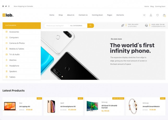 eLab – Premium Responsive Multi Vendor Marketplace WordPress Theme