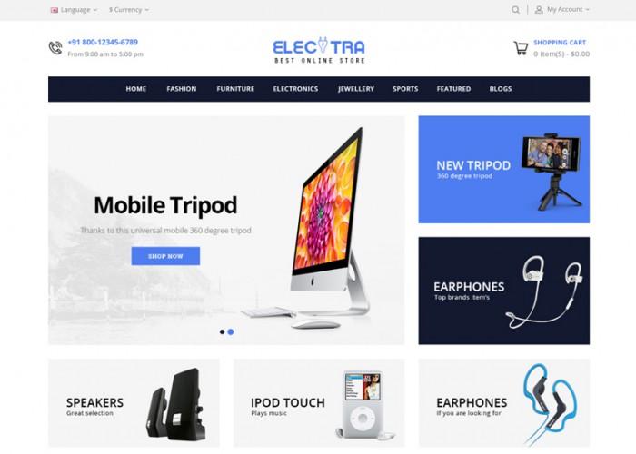 Electra – Premium Responsive Electronics OpenCart Theme