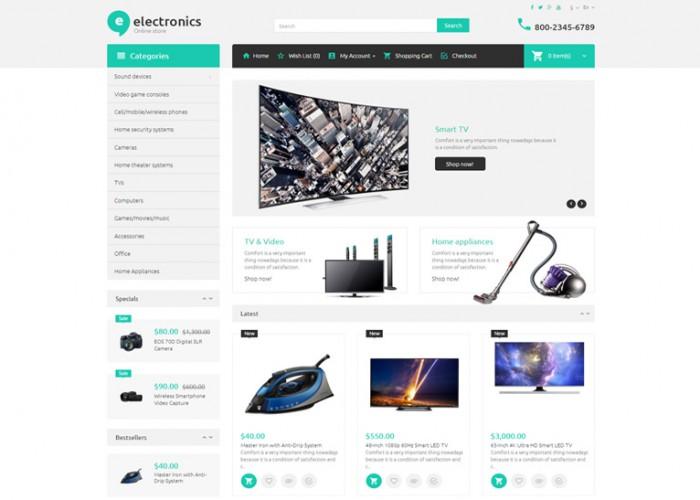 Electronic Store – Premium Responsive OpenCart Template