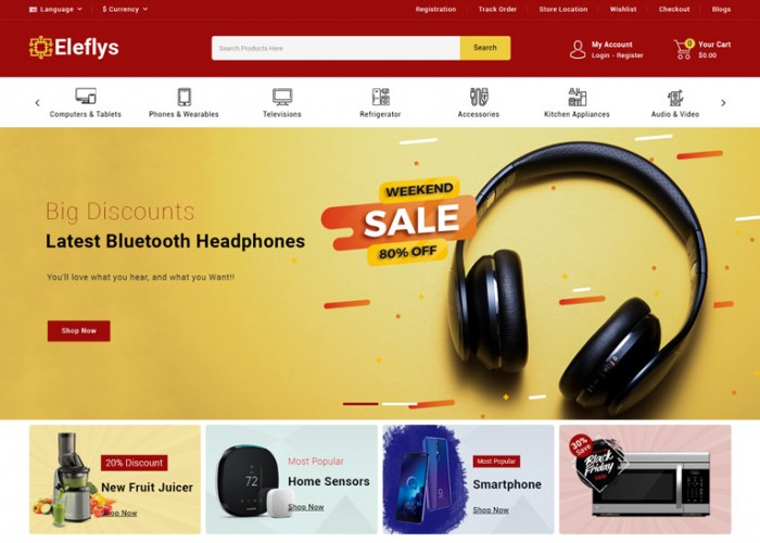 Eleflys – Premium Responsive Mega Electronics OpenCart 3 Theme