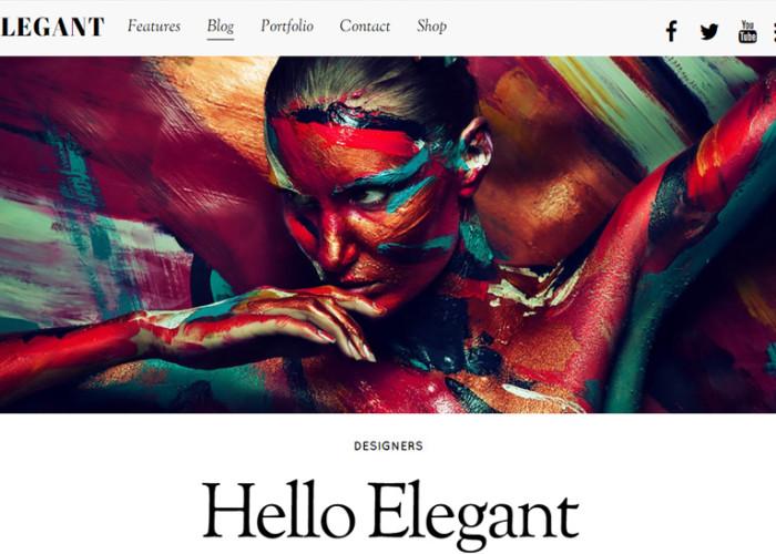 Elegant – Premium Responsive WordPress Blog & Portfolio Theme