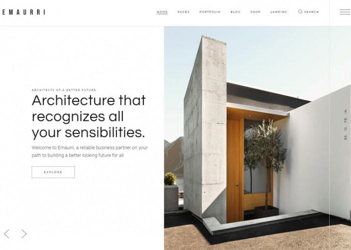 Emaurri – Premium Responsive Interior Design  WordPress Theme