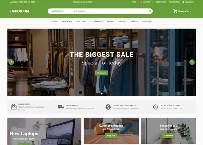 Emporium – Premium Responsive Angular 8 eCommerce HTML5 Template