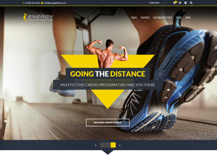 ENERGY – Premium Responsive WordPress Fitness Theme
