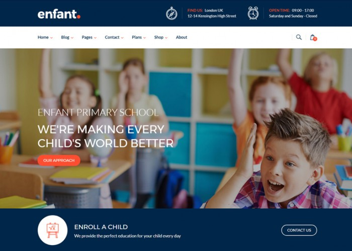 Enfant – Premium Responsive School and Kindergarten WordPress Theme