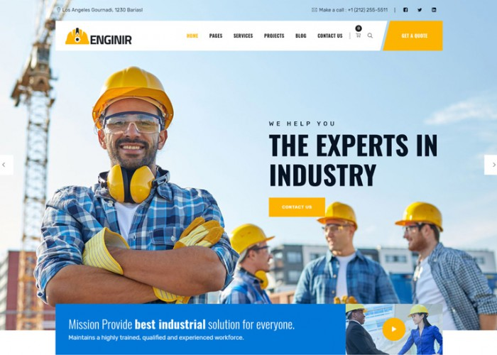 Enginir – Premium Responsive Industrial & Engineering WordPress Theme