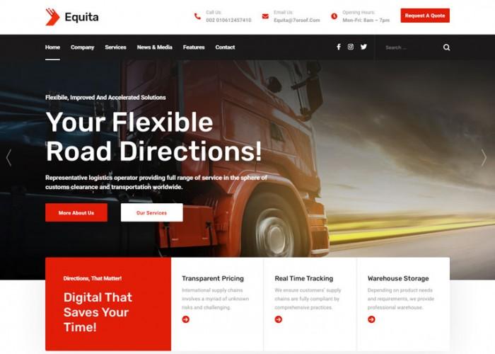 Equita – Premium Responsive Logistics Cargo HTML5 Template
