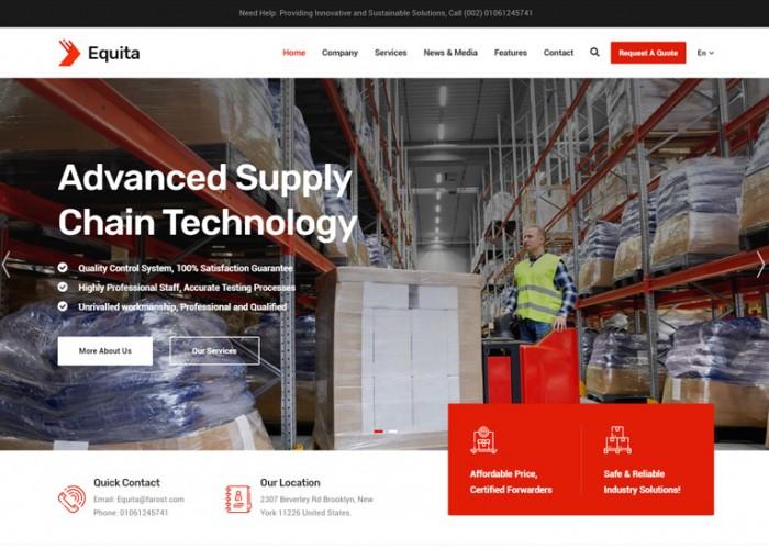Equita – Premium Responsive Logistics Cargo WordPress Theme