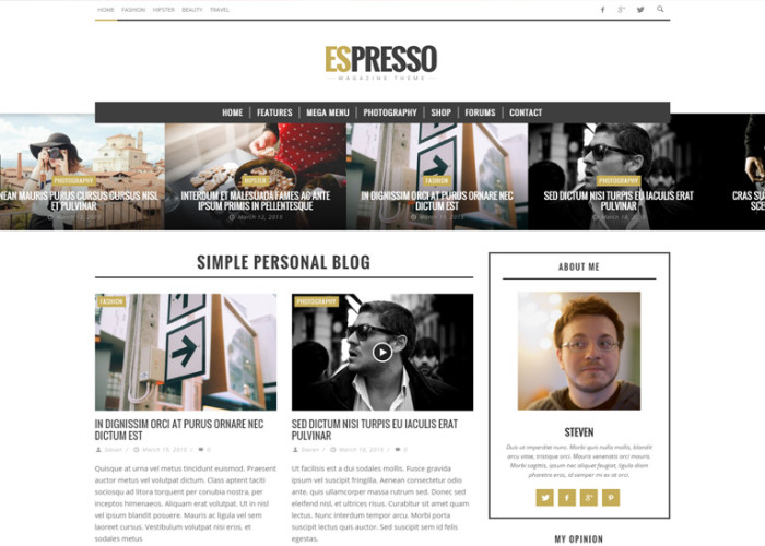 ESPRESSO – Premium Responsive Magazine / Newspaper WordPress Theme
