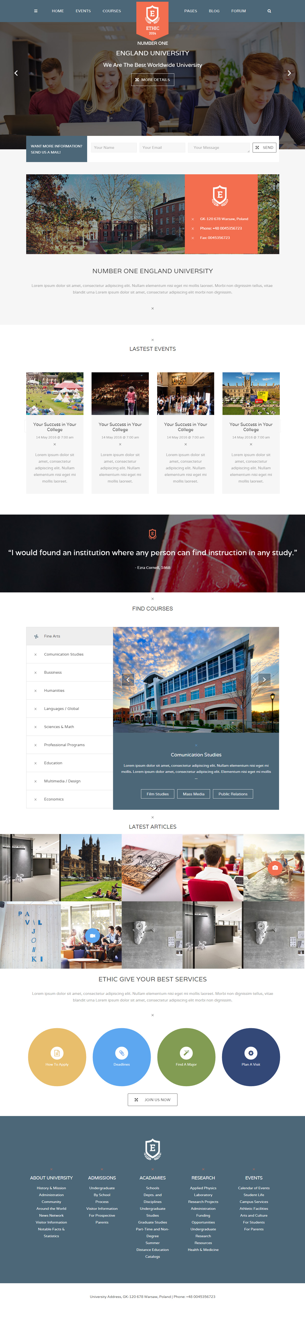 ETHIC Events HTML5 Templates
