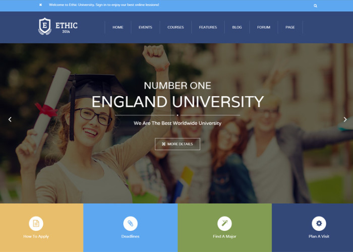 ETHIC – Premium Responsive Education, Event and Course HTML5 Template