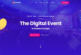 Evenex – Premium Responsive Event Conference WordPress Theme