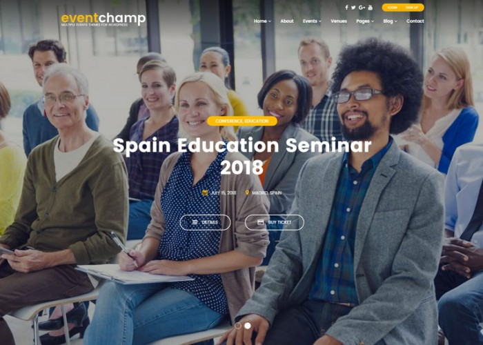 Event Champ – Premium Responsive Multiple Events & Conference WordPress Theme