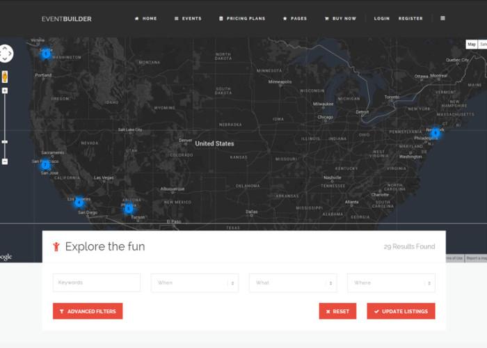 EventBuilder – Premium Responsive WordPress Events Directory Theme