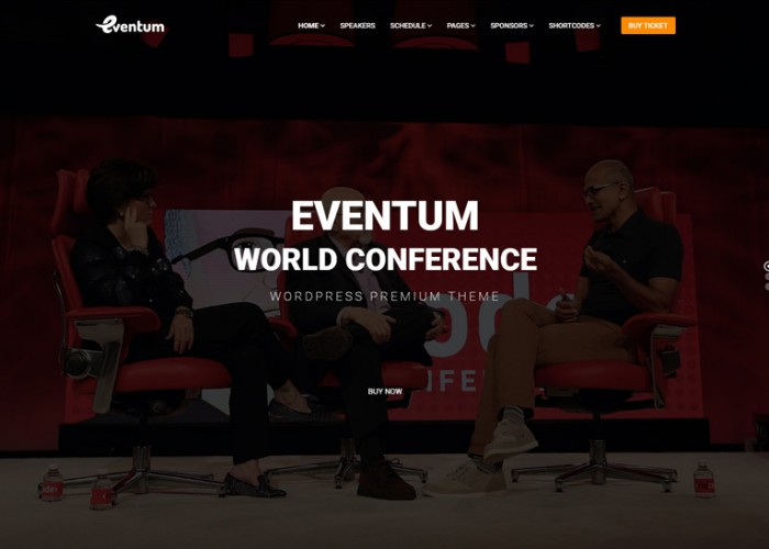 Eventum – Premium Responsive Conference & Event WordPress Theme