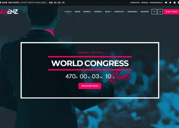 Evenz – Premium Responsive Conference and Event WordPress Theme