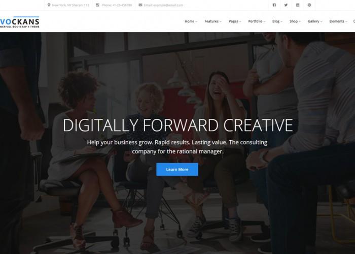 Evockans – Premium Responsive MultiPurpose Business Drupal 8 Theme