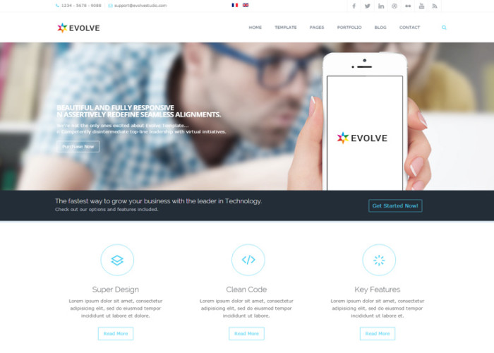 Evolve – Premium Responsive Multi-Purpose Joomla Template