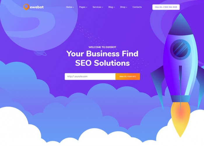 Ewebot – Premium Responsive Digital Marketing Agency WordPress Theme