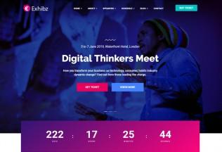Exhibz – Premium Responsive Conference Event WordPress Theme