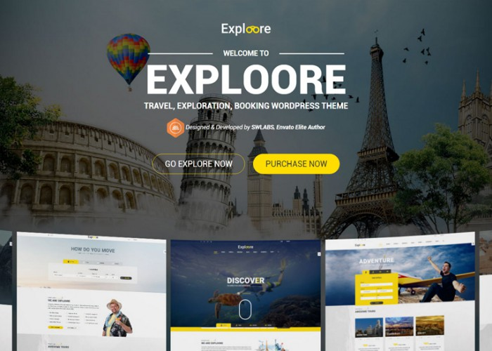 Exploore – Premium Responsive Travel Booking WordPress Theme