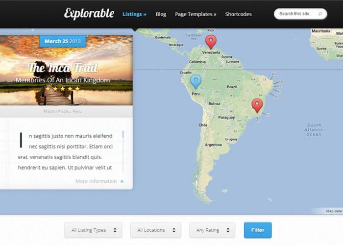 Explorable – WordPress Premium Responsive Theme