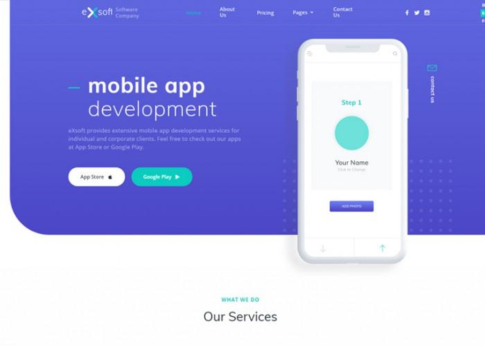 eXsoft – Premium Responsive Application Studio HTML5 Template