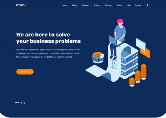 Exvox – Premium Responsive Multipurpose HTML5 Template