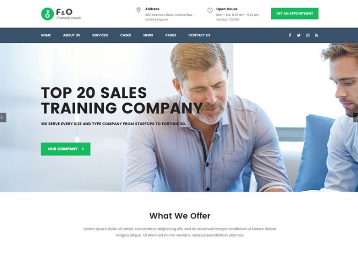 F&O – Premium Responsive Consultant Finance WordPress Theme