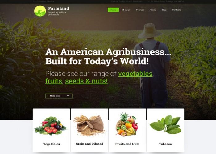 Farmland – Premium Responsive Agriculture and Farming WordPress Theme