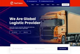 Fastrans – Premium Responsive Transportation Logistics HTML5 Template