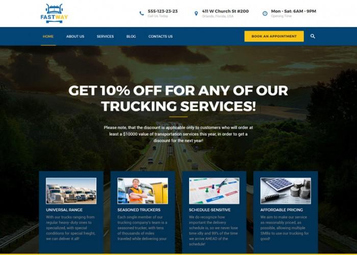 FastWay – Premium Responisve Transportation Company WordPress Theme