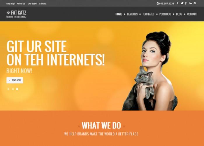 Fat Catz – Premium Responsive Multipurpose HTML5 Template