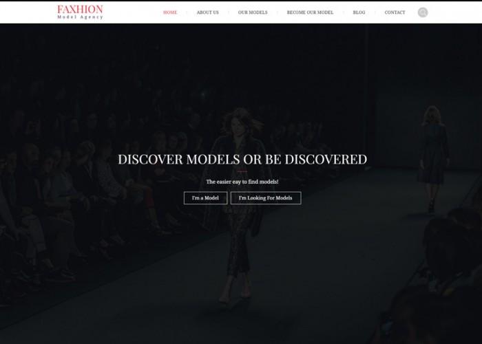 Faxhion – Premium Responsive Model Agency WordPress Theme