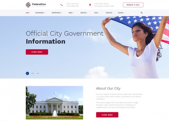 FederalGov – Premium Responsive Government HTML5 Template