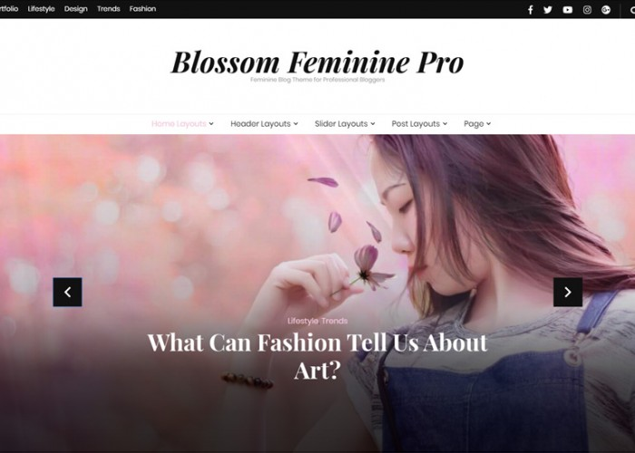 Feminine – Premium Responsive Fashion WordPress Theme