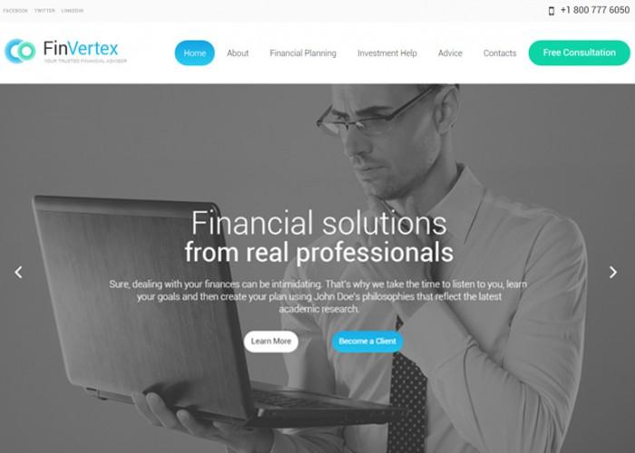 Fin Vertex – Premium Responsive Financial Advisor WordPress Theme