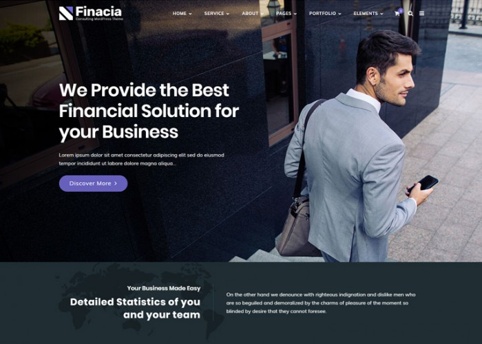 Finacia – Premium Responsive Financial Consulting WordPress Theme
