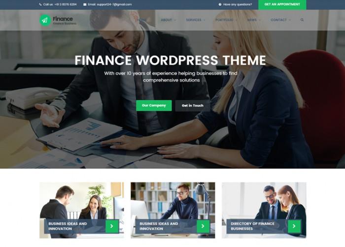 Finance – Premium Responsive Consulting, Accounting WordPress Theme
