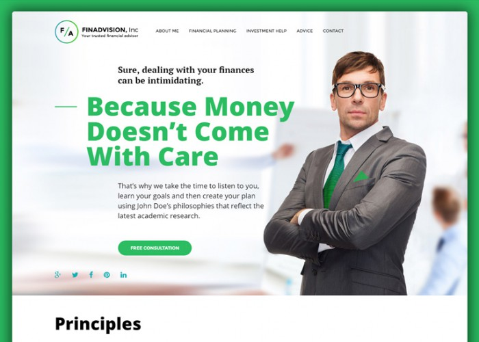 Financial Advisor – Premium Responsive WordPress Theme