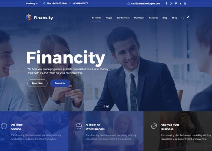 Financity – Premium Responisve Business Finance WordPress Theme