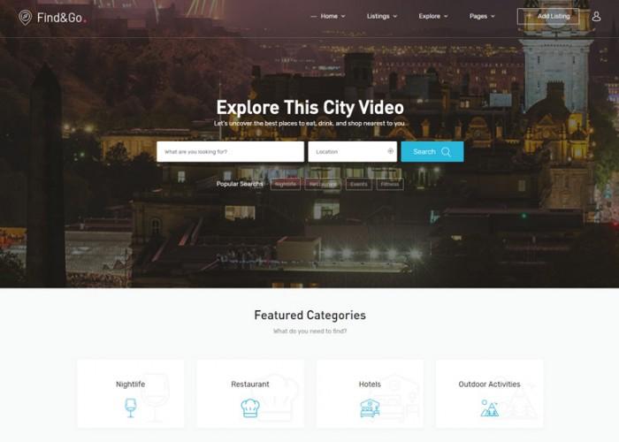 Findgo – Premium Responsive Directory & Listing WordPress Theme